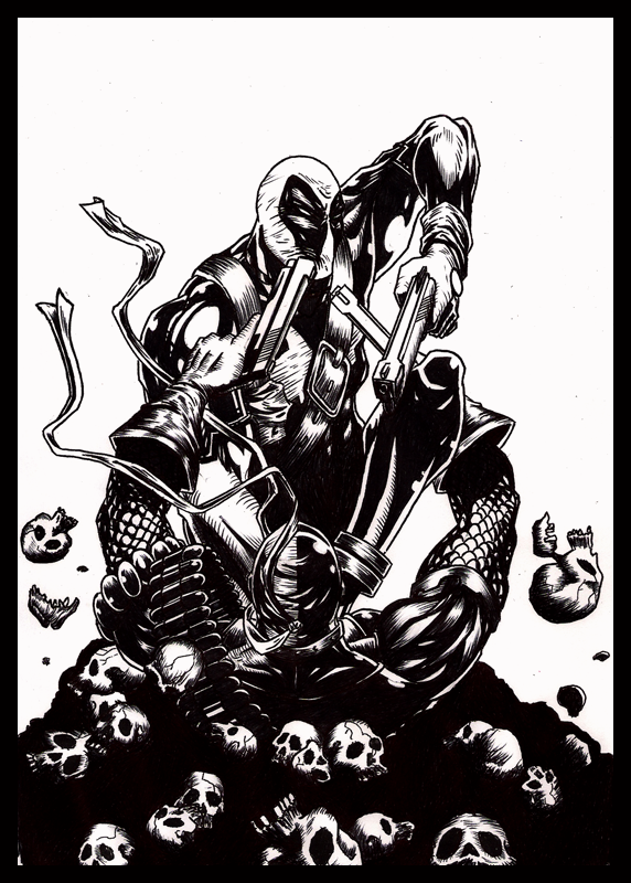 Deadpool vS Deathstroke by A-Deadless-Mad-Man