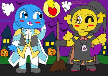 Penball Halloween Night by Winged-Akatsuki