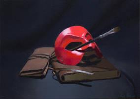 Mask Painting by Lee-Fazzani