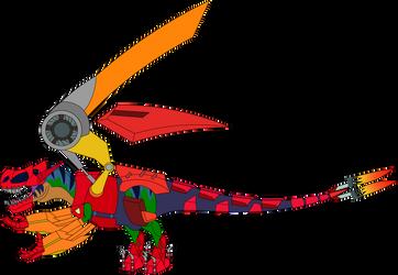 Tyrannosaurus-Rex with the Byakushiki by Artapon