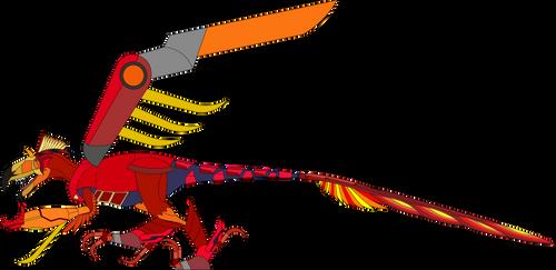 Yutyrannus with the Byakushiki by Artapon