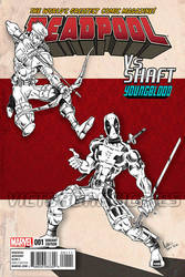 Deadpool Vs Shaft from Youngblood by victorgrafico