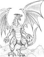 Dragon - Sketch by ToughWeasel