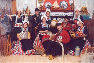 Regional costumes Volendam Netherlands. by Gimper43