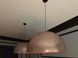 Copper shade Oru from Fabbian by Edgar