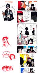 Bleach Color Doodles: GUITAR DESU by Laikkuseia