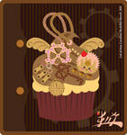 Steampunk Cupcake by LaCatrina