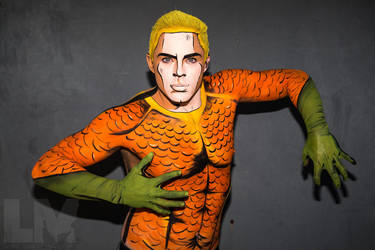 Body Paint Cosplay - DC Comics Aquaman by epicheroes