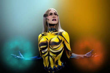 Body Paint Cosplay - Marvel Inhumans Crystal by epicheroes