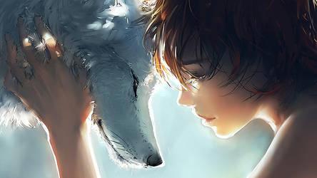 Stunning Manga Wallpaper The wolf Girl HD by epicheroes