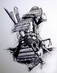 Samuri warrior by Gamewiz