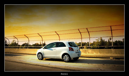 Yaris rolling. sunset by pavel89l