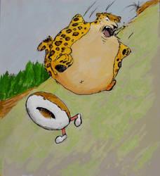 A jagwurr rolling after it's prey by TravisKeaton