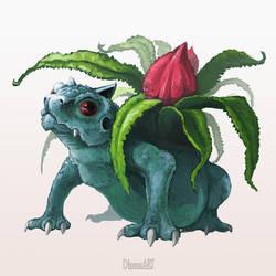 002 - Ivysaur by DLouiseART