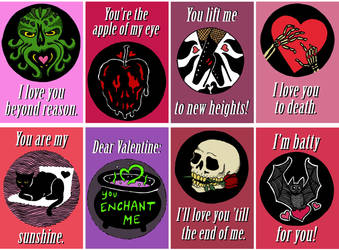 Creepy In Love Valentines Cards by Icarusburns