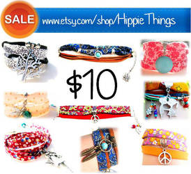 Fabric Bracelets - SALE by pestenkerani