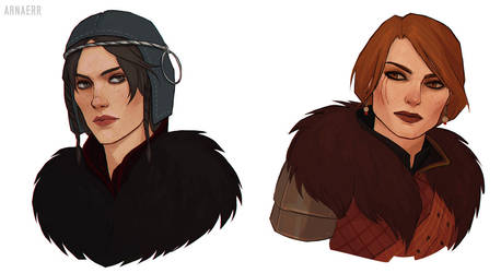 Skellige girls by arnaerr