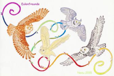 Eulenfreunde by Nenu