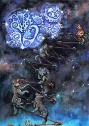 Cojote sets up the stars by Nenu