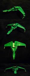 Klingon Bird of Prey Origami by kryz-flavored