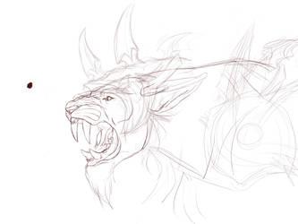 Fandral Firecat derpsketch by kryz-flavored