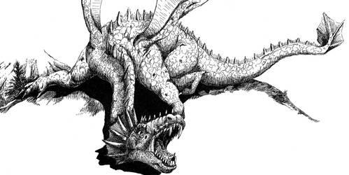 Mountain Dragon by Codefreespirit