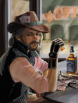 Commission: Alex as 'Joker', Westworld NPC cowboy by XGingerWR