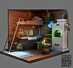 ConceptartistRPG Challenge #3: Captain's Cabin by XGingerWR