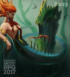 ConceptartistRPG #14: The God by XGingerWR