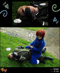 APH-cosplay: Please get off... by Kumagorochan