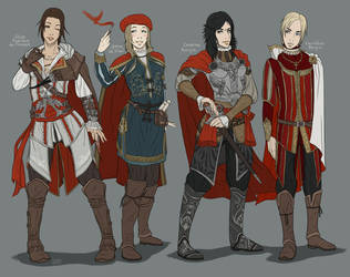 AC - 15th century Gender Bend by Kumagorochan