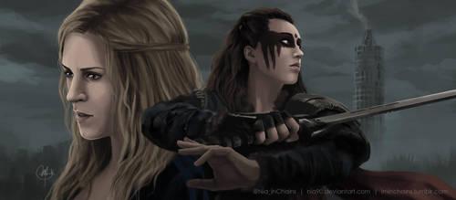 Clarke y Lexa by Nia90