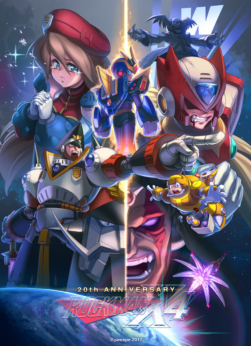 20th Anniversary RockmanX4 by peeape