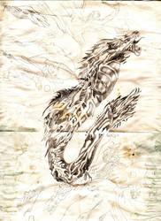 dragon tatoo by palnkton