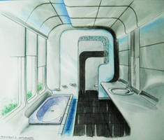 Futuristic Bathroom by shinvan