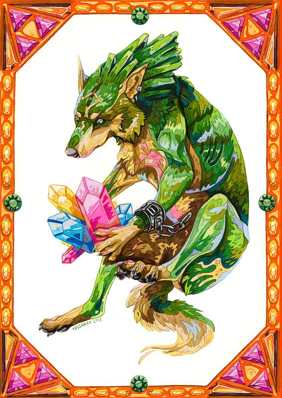 Link-wolf by Kelshray