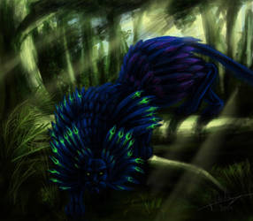 Panthere A Plumes (feathered panther) by Jeronimight
