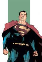 Superman Sketch 2 - Colored by rafaelalbuquerqueart