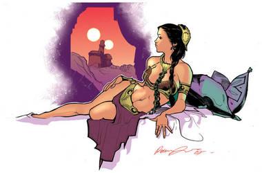 Princess Leia - Colored by rafaelalbuquerqueart