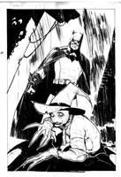 Batman vs Scarecrow Commission by rafaelalbuquerqueart