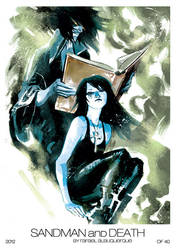Sandman and Death by rafaelalbuquerqueart