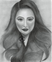 Graphite Portrait: Sunshine Dizon (Final) by DicoCalingal