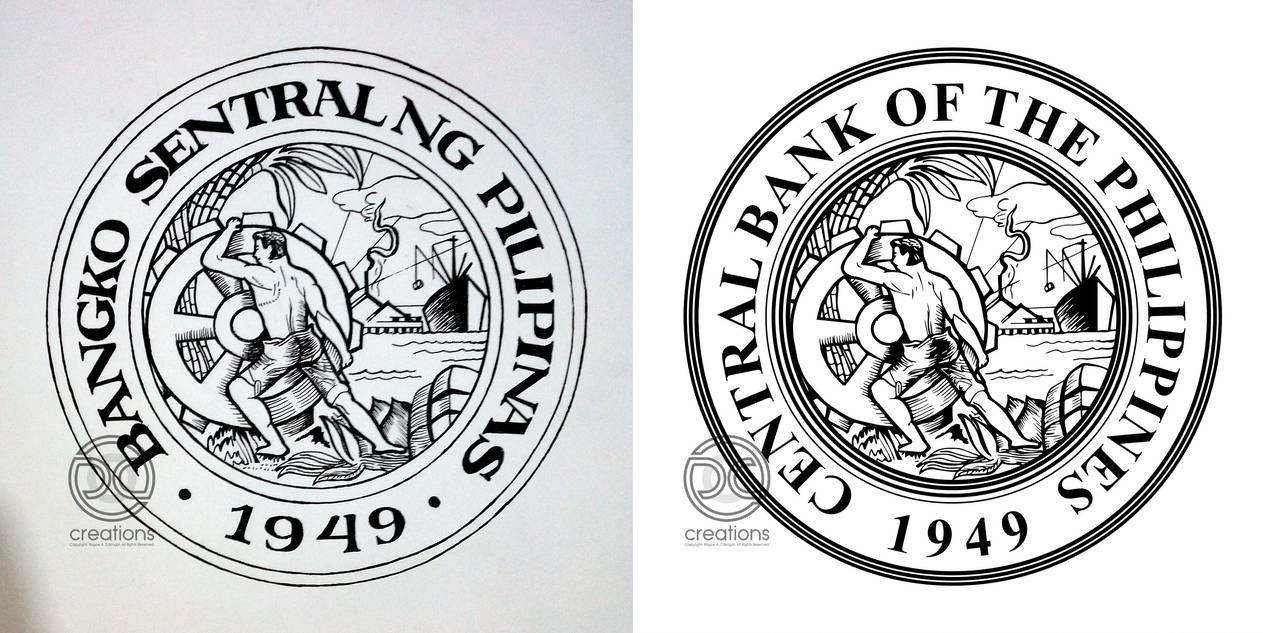 Central Bank Of The Philippines Logo (1949) By