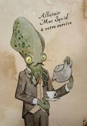 Allistair Mac Squid (steampunk butler) by Elaume
