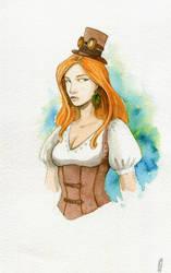 Dedicace perso feminin steampunk by Elaume