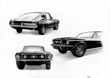 Mustang Fastback 1967 by keiraono