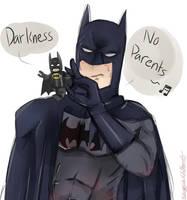 Lego Batman and Batman: Darkness No Parents by madlinkplz