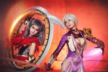 Tira x Ivy cosplay - Soyl Calibyr V by AsherWarr