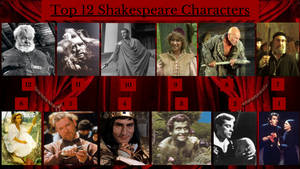 Top 12 Shakespeare Characters by JJHatter
