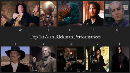 Top 10 Alan Rickman Performances by JJHatter